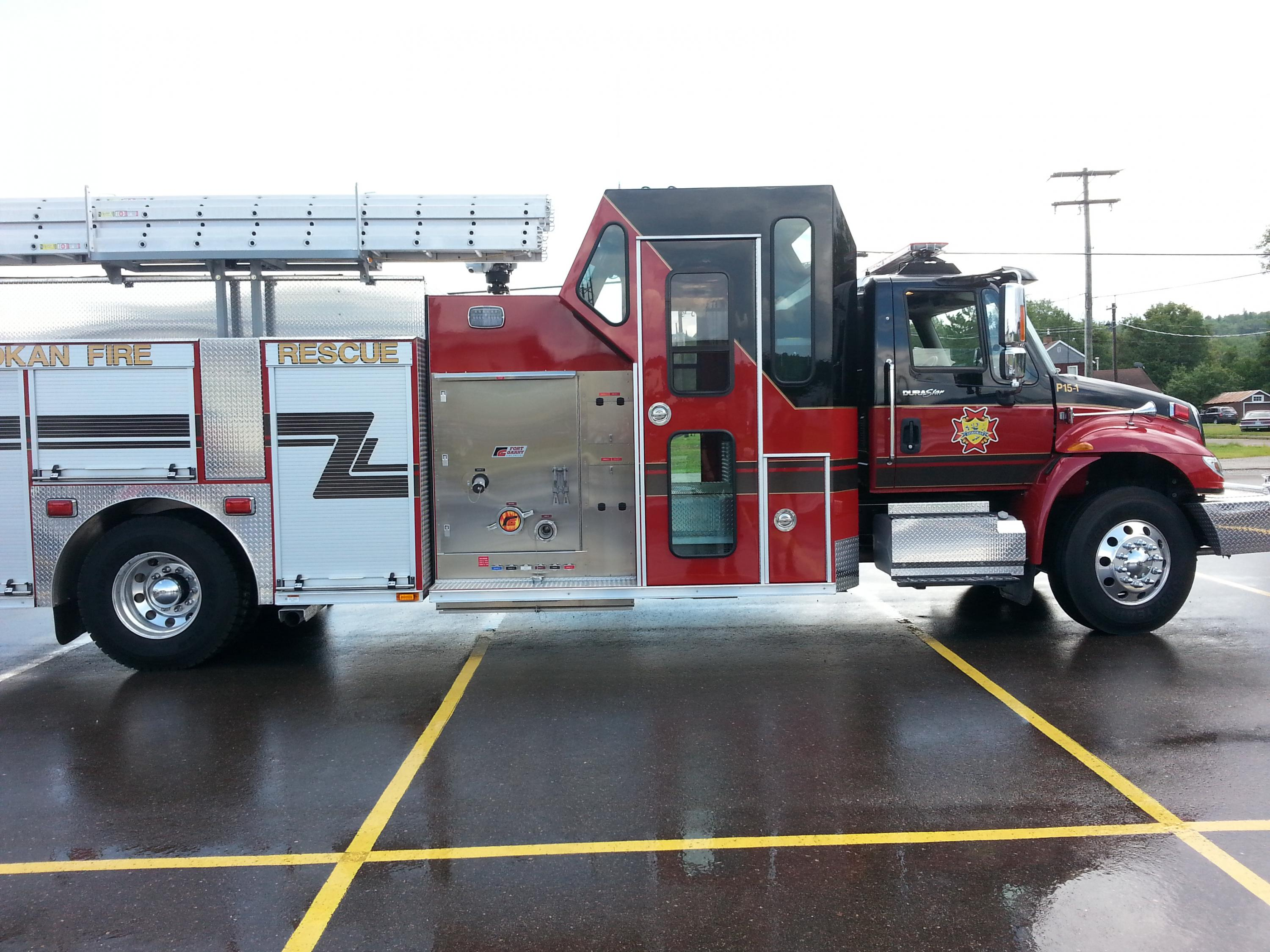 sideview of new firetruck